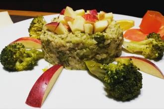 Rajas café ristorante vegetariano e vegano portata